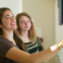 Students in GIS lab