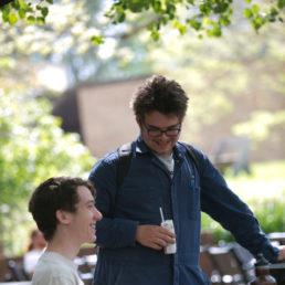 Students on Sunderland patio