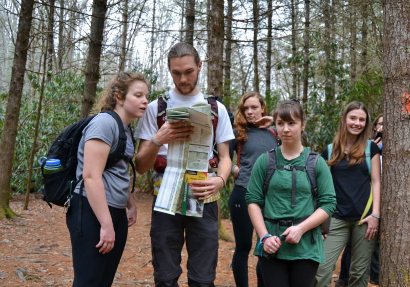 Outdoor Leadership students in the field