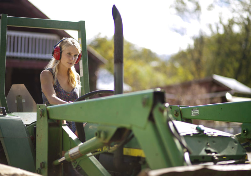 Student on Tractor