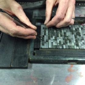 Setting a letterpress