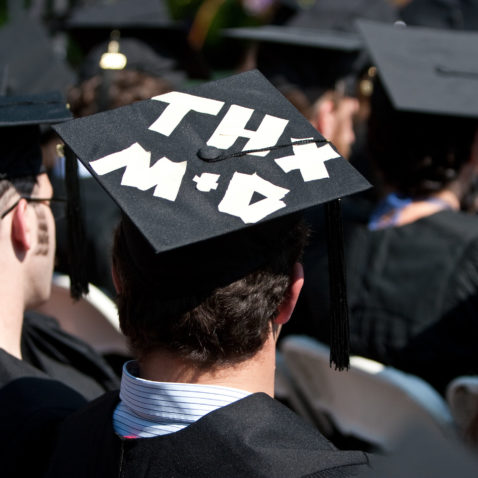 Mortarboard that reads
