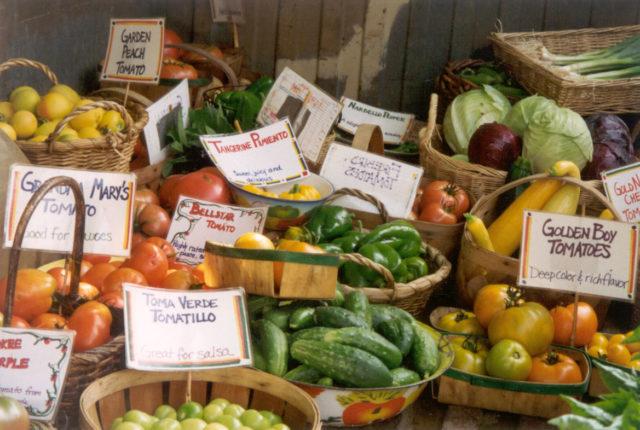 Produce at the Garden Market