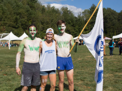 students painted to show school spirit