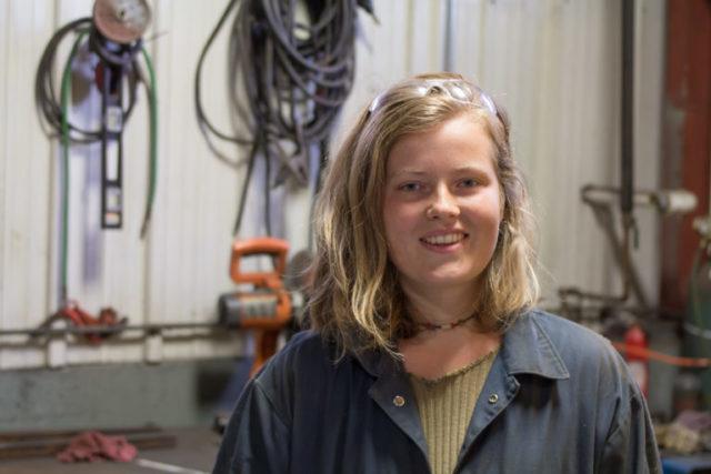"""Warren Wilson College sophomore Corinna Steinrueck helped create """"A Night at the Autoshop."""""""