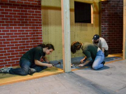 Theatre Crew set building