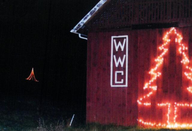Red Barn Christmas Lights