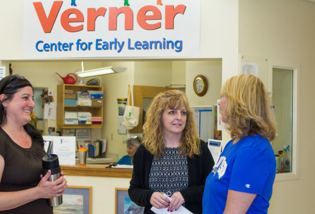 President Lynn Morton at the Verner Early Learning Center
